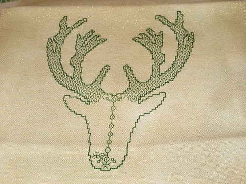Blackwork Deer WIP