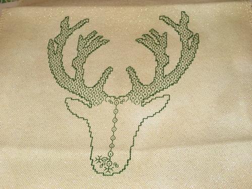 Blackwork Deer WIP