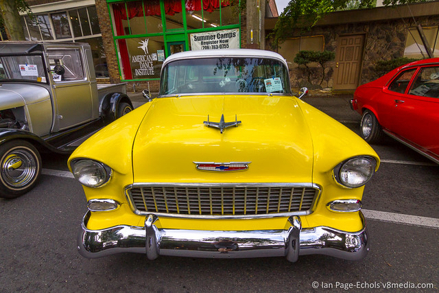 1955 Chevy 210 Wagon Front Above