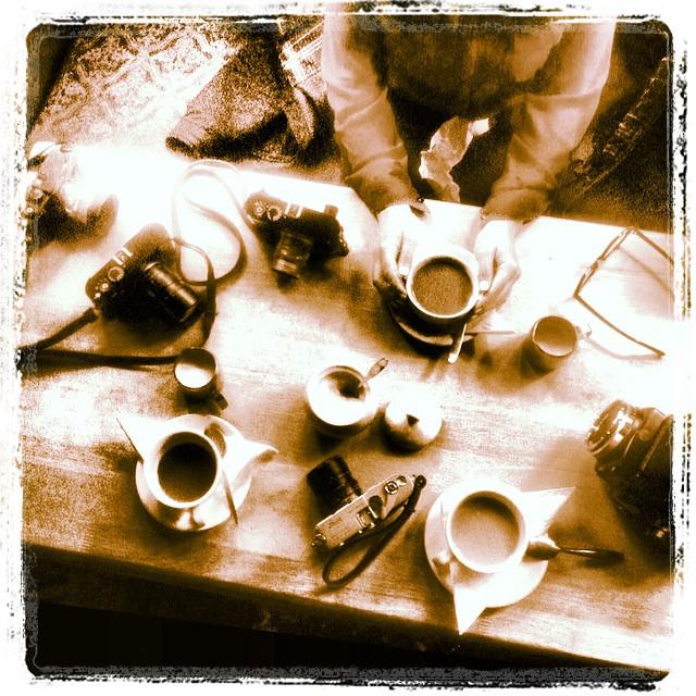 #Leica tea party today! - #london #photography #workshop with @kymmypops & www.MrLeica.com