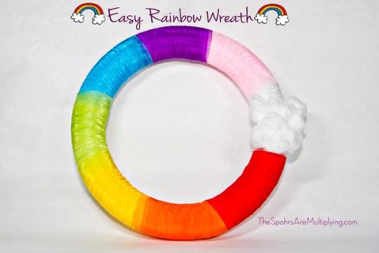 Easy Rainbow Wreath
