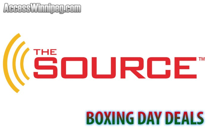 The Source Boxing Day Deals 2019