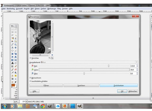 Foto in gimp schwarz-weiß machen