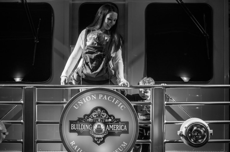 Sarah and the Boys at Union Pacific Museum