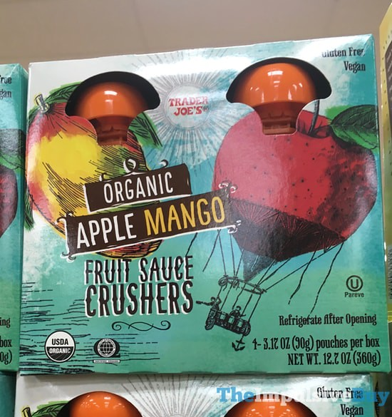 Trader Joe's Organic Apple Mango Fruit Sauce Crushers