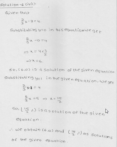 RD Sharma Class 9 Solutions Chapter 13 Linear Equations in Two Variables 8.