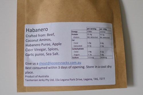 Habanero nutrition facts