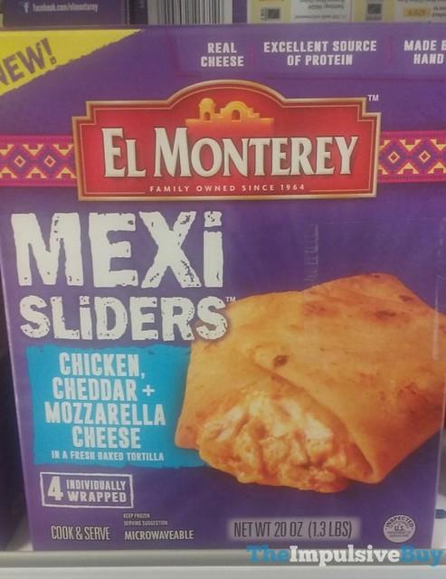 El Monterey Chicken, Cheddar & Mozzarella Cheese Mexi Sliders