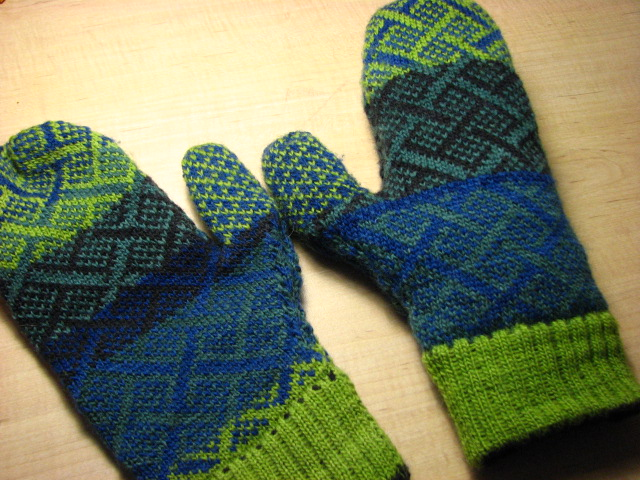 Northern Lights Thrummed Mittens