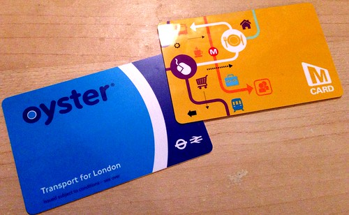 Travel smart cards - Oyster (London) & MCard (West Yorkshire)