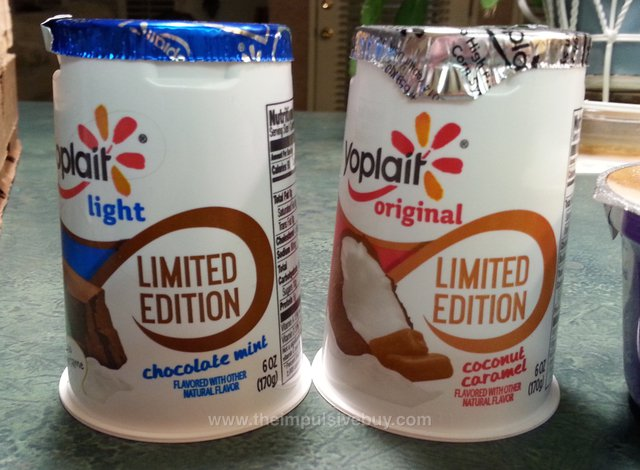 Yoplait Light Limited Edition Chocolate Mint and Yoplait Original Coconut Caramel