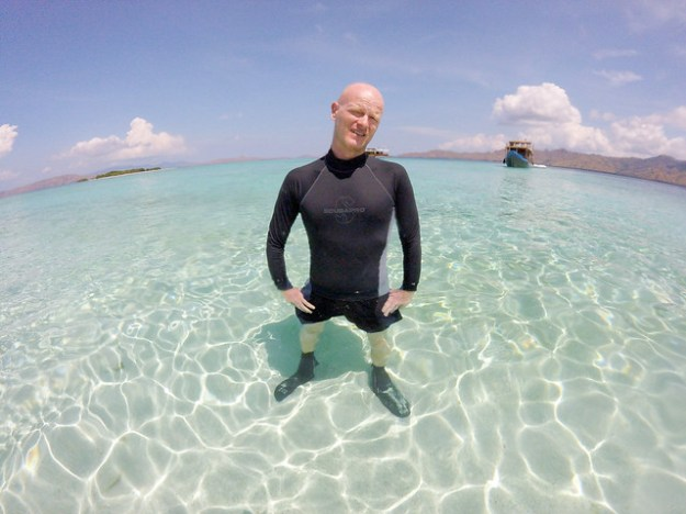 Paul at the desert island. Komodo