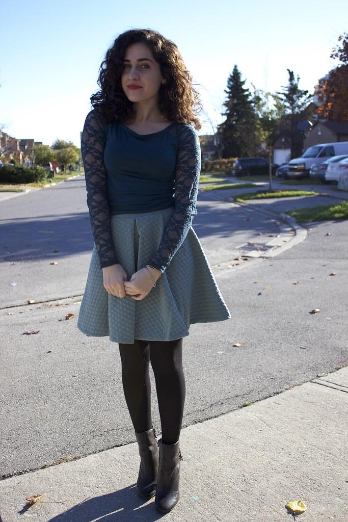 H&M+Skirt+Booties