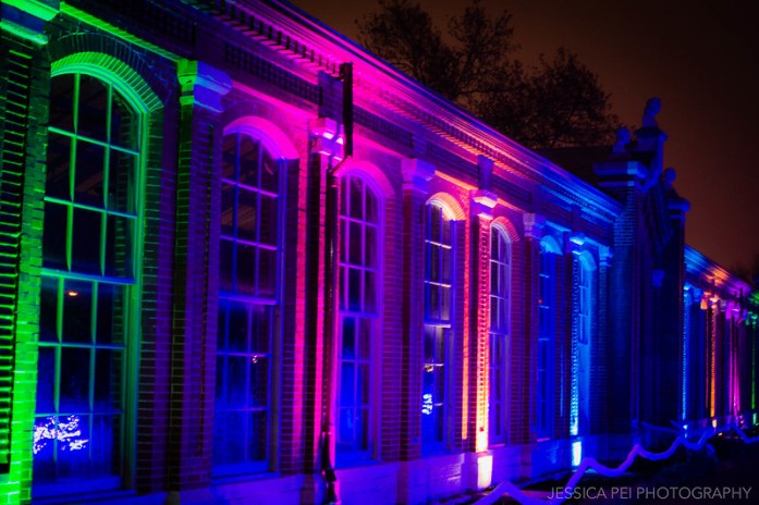 Colorful Greenhouse Lights at Garden Glow St. Louis