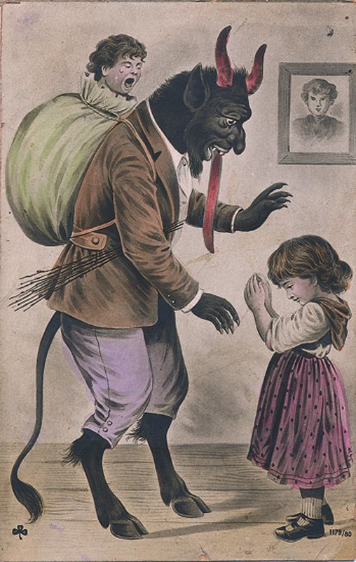 Greetings From Krampus The Public Domain Review