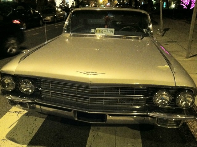 Silver Cadillac.