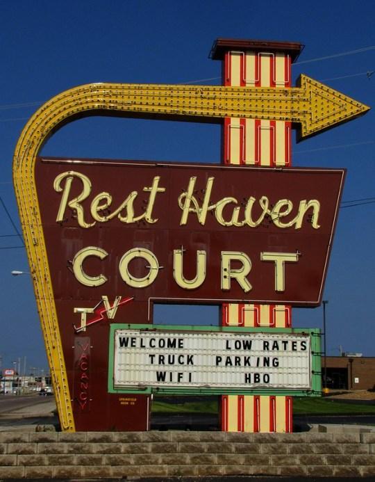 Rest Haven Court - 2000 East Kearney Street, Springfield, Missouri U.S.A. - July 21, 2014