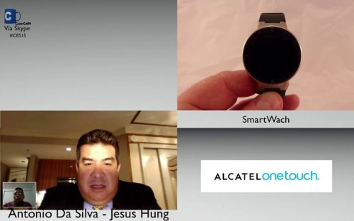 CES 2015 Jesús Hung Alcatel Ine Touch Wearable