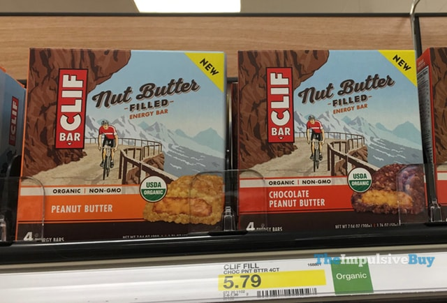 Clif Bar Nut Butter Filled Energy Bar (Peanut Butter and Chocolate Peanut Butter)
