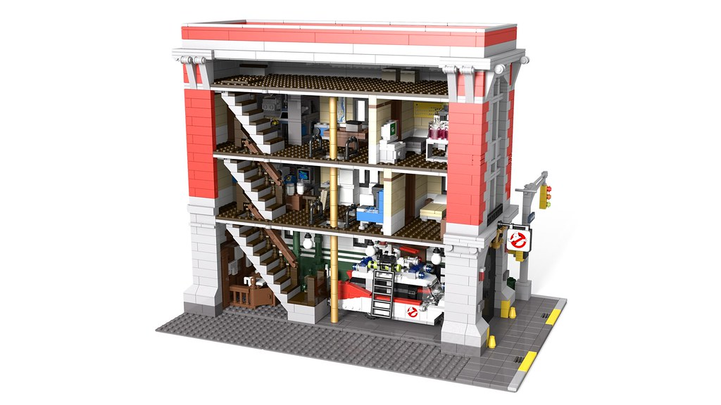 LEGO Ghostbusters headquarters   modular scale   LEGO Licensed     15459031283 6324c9942c b jpg