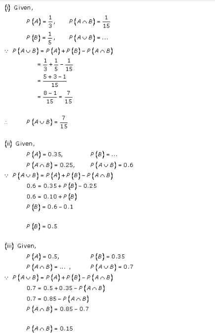RD-Sharma-class-11 Solutions-Chapter-33-Probability-Ex-33.4-Q-1 ii