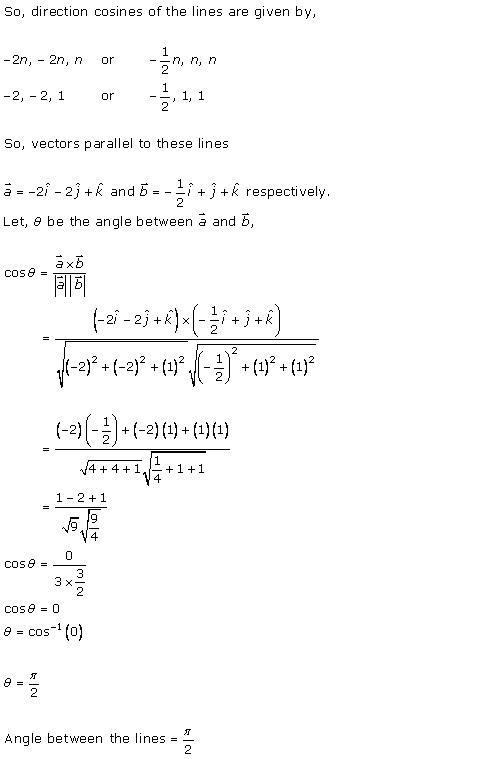 RD Sharma Class 12 Solutions Chapter 27 Direction Cosines and Direction Ratio Ex 27.1 Q4-iv