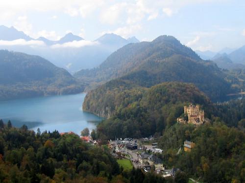 Hohenschwangau with village and lake