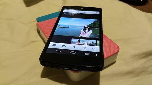 การพิมพ์ก็แค่วางสมาร์ทโฟนบนตัวเครื่อง LG Pocket Photo