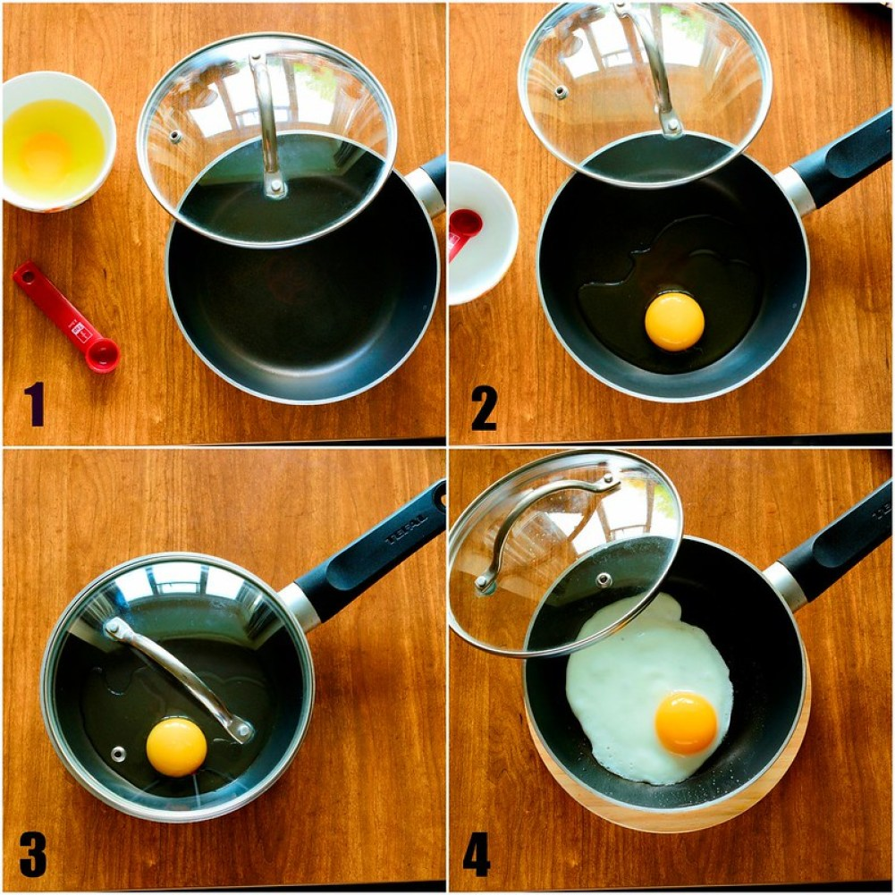 Perfect Sunny SIde Up Egg - Step by STep