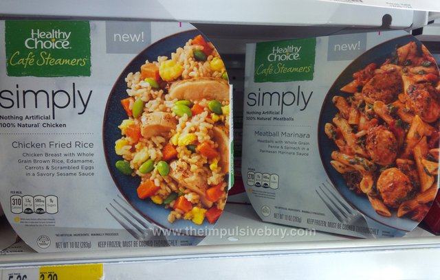 Healthy Choice Simply Cafe Steamers (Chicken Fried Rice and Meatball Marinara)