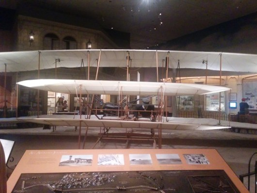 Wright Brothers plane in Air and Space Museum