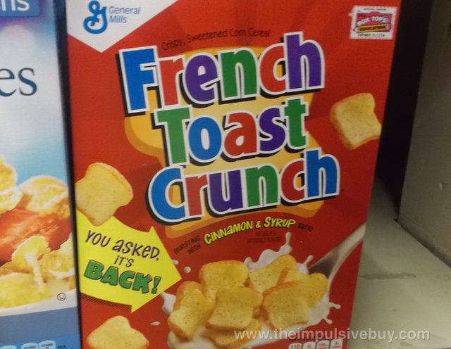 French Toast Crunch Cereal 2014