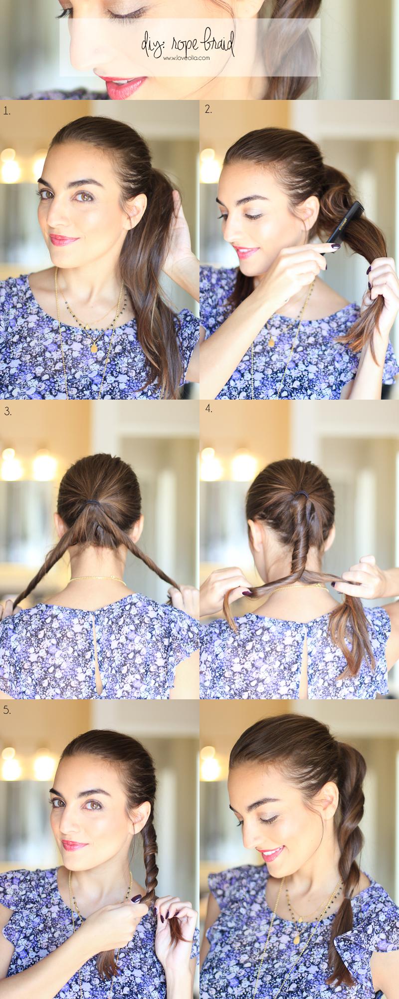 Easy Rope Braid Hair Hairstyle Tutorial