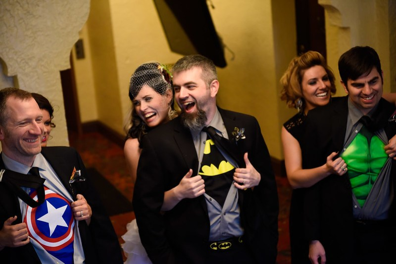 This geeky superhero Halloween wedding wins the internet today