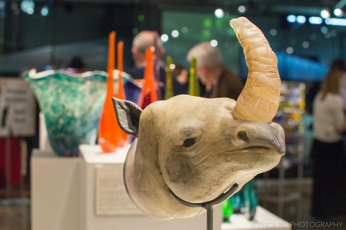 Rhino Head Third Degree Glass Factory