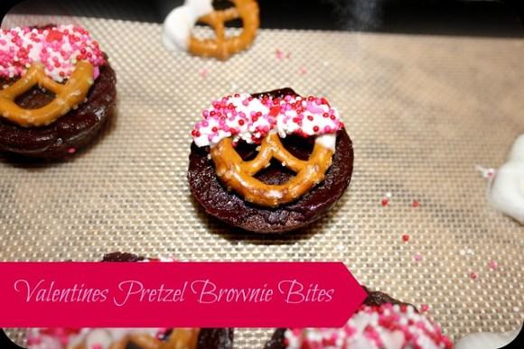 valentines pretzel brownie bites