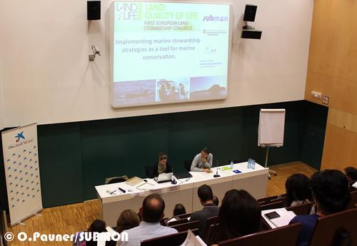 """Presentación durante el taller de custodia marina del congreso """"LandLife"""""""