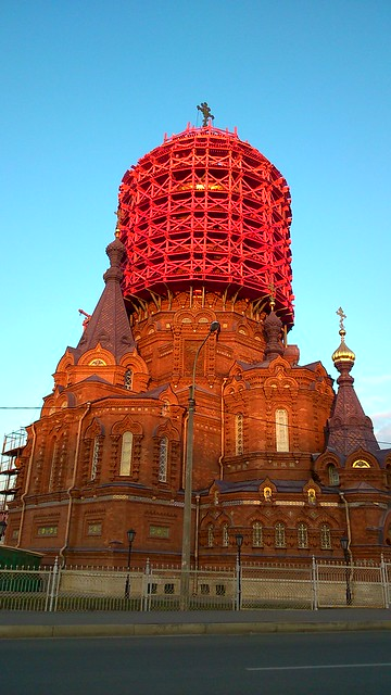 Church of the Epiphany in scaffolding