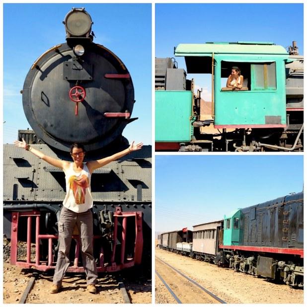 Tren en Jordania