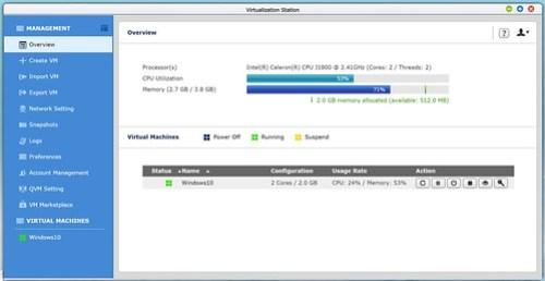 เปิด Virtualization ก็กินหน่วยความจำและ CPU ไม่น้อยทีเดียว
