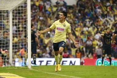 El defensa Paolo Goltz estimó que su primer gol con el América llegó cuando más lo necesitaban, en la serie contra Pumas, para clasificar a semifinales. Foto Jam Media
