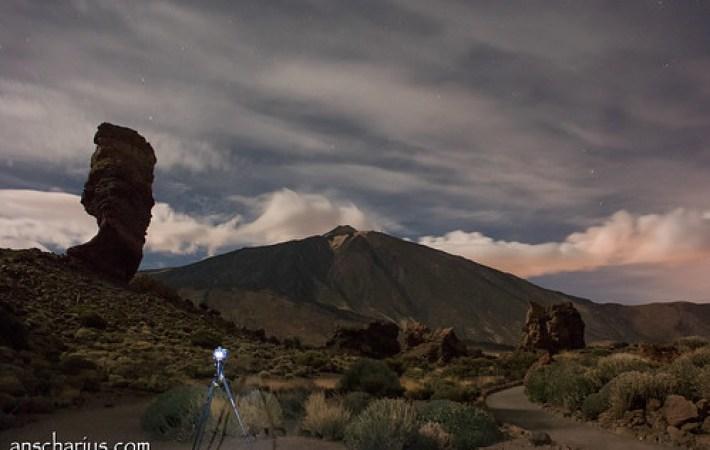 Shooting Nikon D800E while shooting El Teide