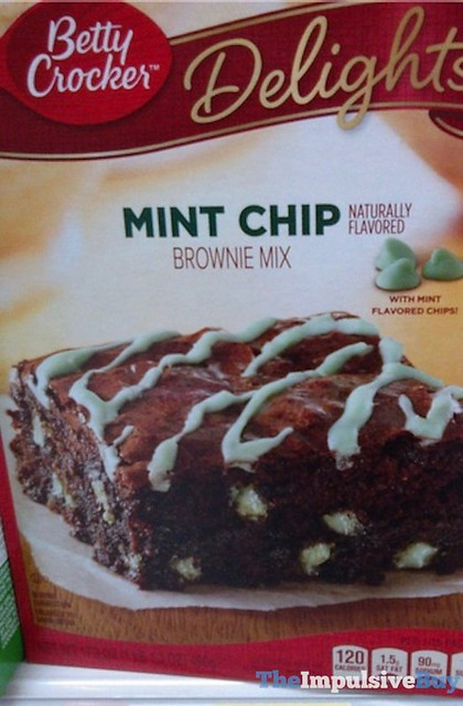 Bettty Crocker Delights Mint Chip Brownie Mix