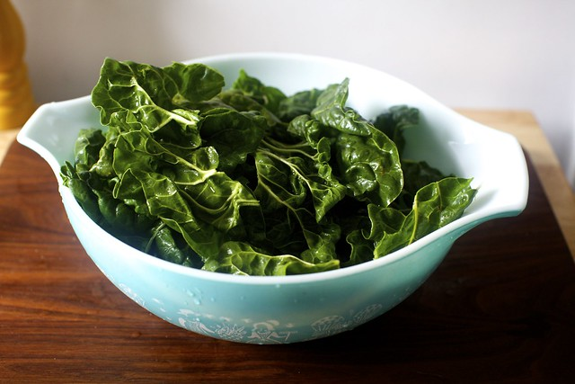 i used chard, not kale, because it's what I had