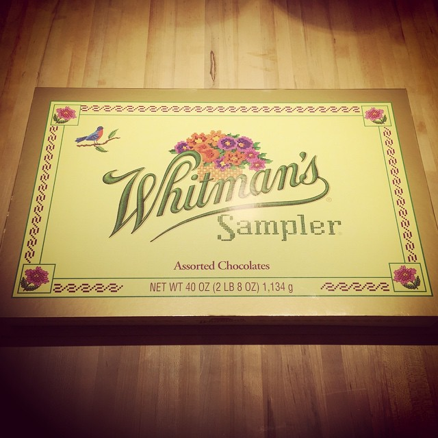 Biggest Whitman's Sampler I ever done seen. #merrychristmas