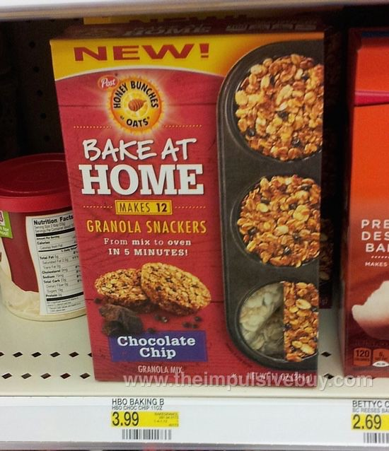 Post Honey Bunches of Oats Chocolate Chips Bake at Home Granola Snackers