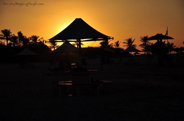 Sunset Silhouette Al Mumzar beach