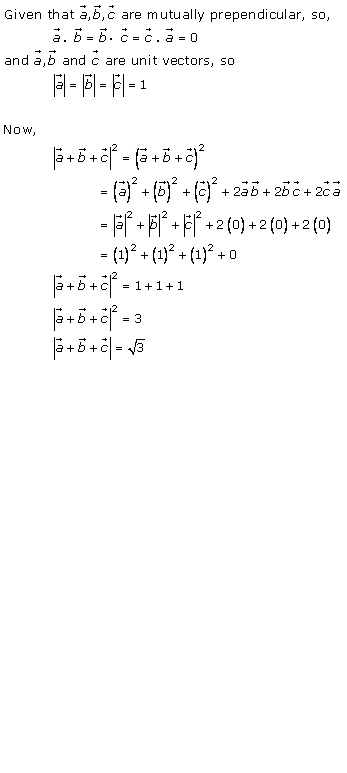 RD Sharma Class 12 Solutions Chapter 24 Scalar or Dot Product Ex 24.1 Q10