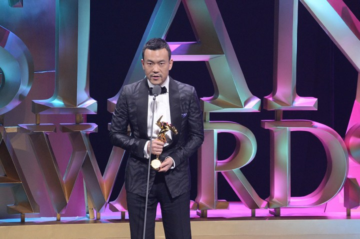 Liao Fan addressing the audience