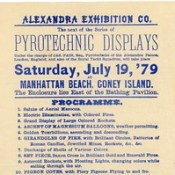 Pyrotechnic Displays by James Pain, Coney Island, July 19, 1879 (Top)